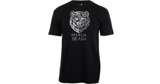 Men's - Black Geometric Bear T-Shirt - 2XL