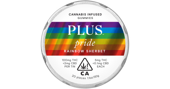 Plus - Rainbow Sherbet Pride Gummies - 100mg