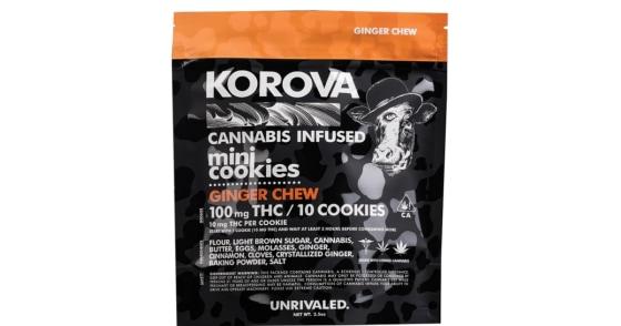 Korova - Ginger Chew Mini Cookies - 100mg