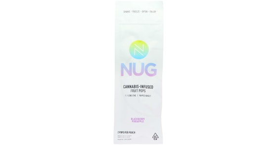 NUG - 1:1 Blackberry Pineapple Fruit Pops - 40mg
