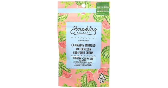 Smokiez Edibles - Watermelon Cannabis Infused CBD Fruit Chews - 250mg