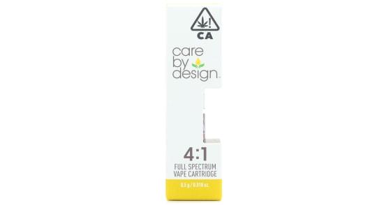 Care By Design - 4:1 CBD Cartridge - 0.5g