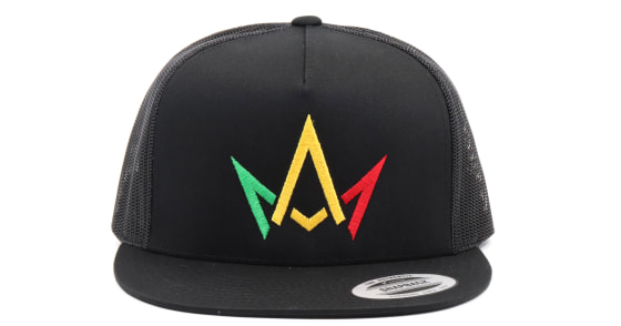 "March And Ash - Black Hat ""Rasta"" Crown Logo - Snapback"