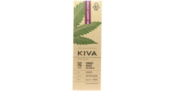 Kiva - Blackberry Dark Chocolate Bar - 100mg