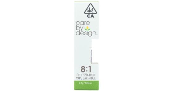 Care By Design - 8:1 CBD Cartridge - 0.5g