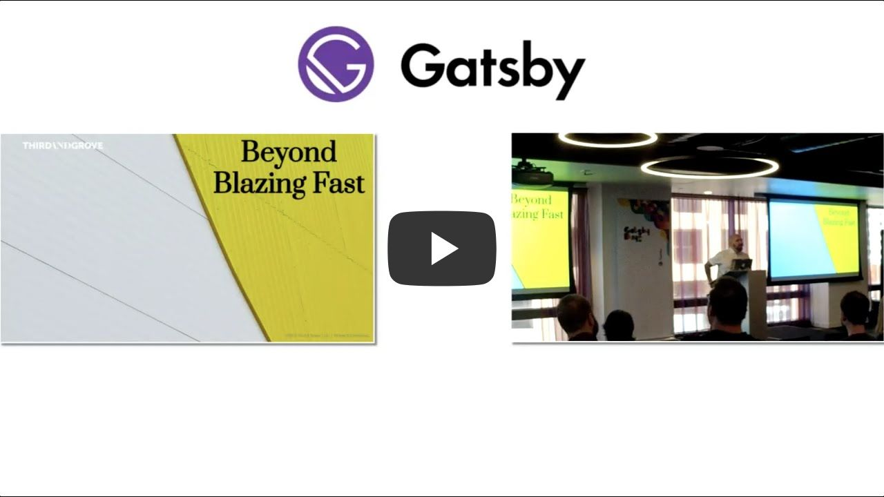 Gatsby Days LA Video 3: What separates the fastest Gatsby sites from everybody else with Grant Glidewell