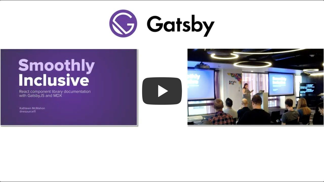 Gatsby Days LA Video 7: React component library documentation with Gatsby and MDX - Kathleen McMahon