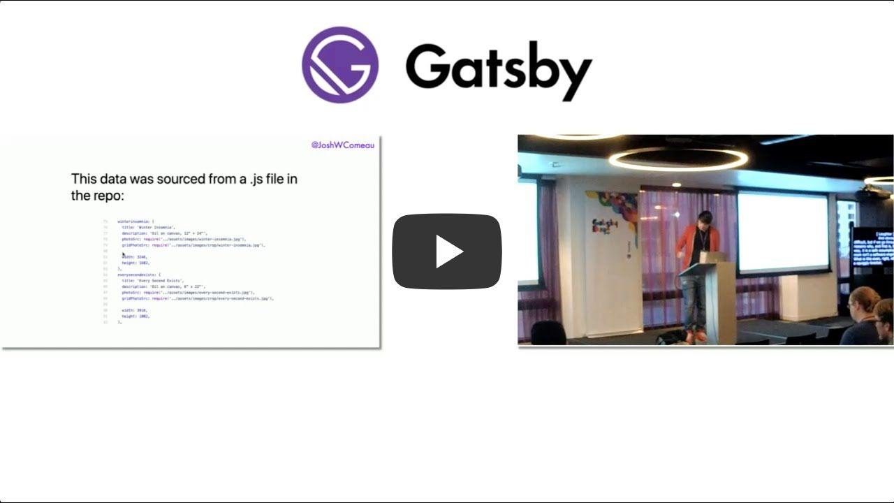 Gatsby Days LA Video 9: Empowered Workflows with Gatsby.js - Josh Comeau - Gatsby Days LA 2020