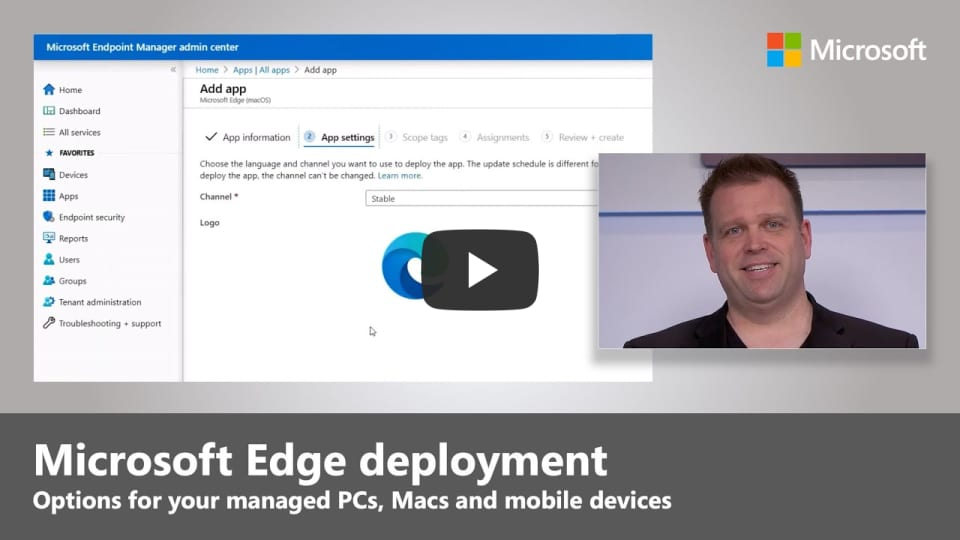 Steps to deploy Microsoft Edge