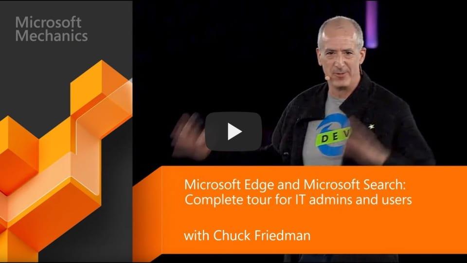 Microsoft Edge et Microsoft Search