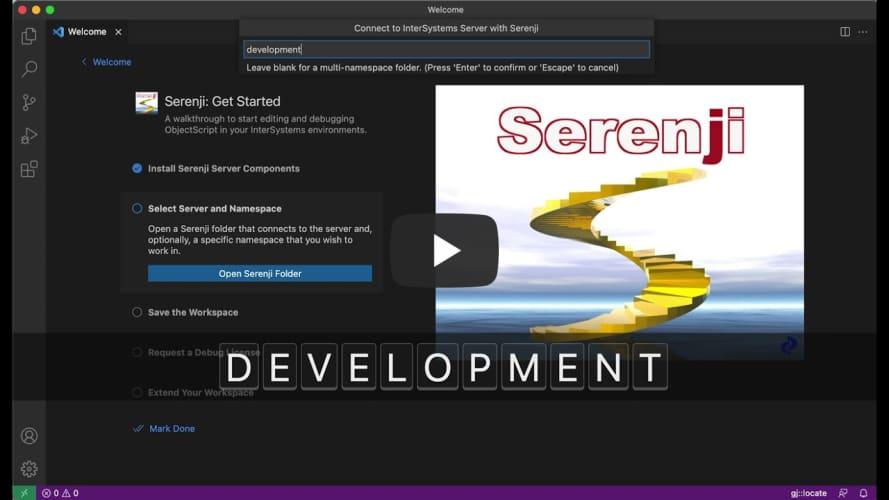 Serenji 3.2.0 Welcome Page Walkthrough