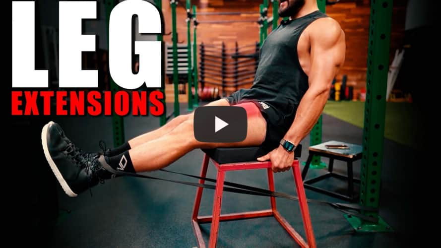 Resistance Band Leg Extensions