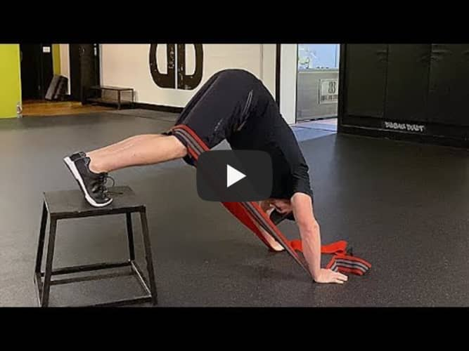 Resistance Band Inverted Leg Extensions