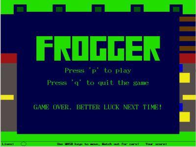 Frogger Clone