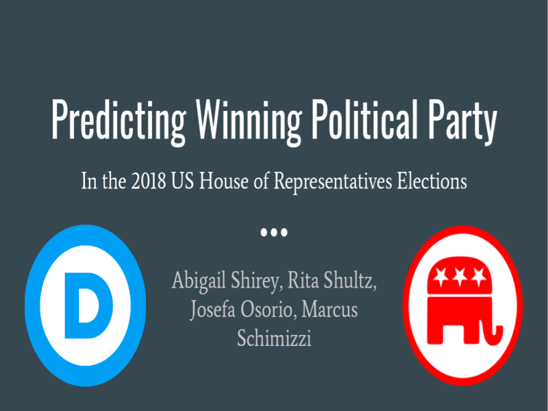 Predicting the 2018 Midterm