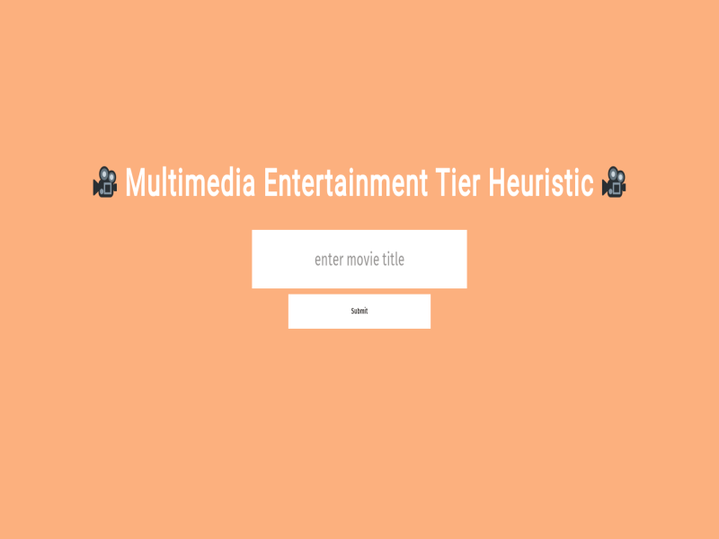 Multimedia Entertainment Tier Heuristic