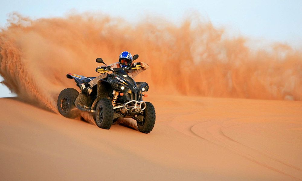 Desert Safari With Quad Bike 4x4 Pick Up