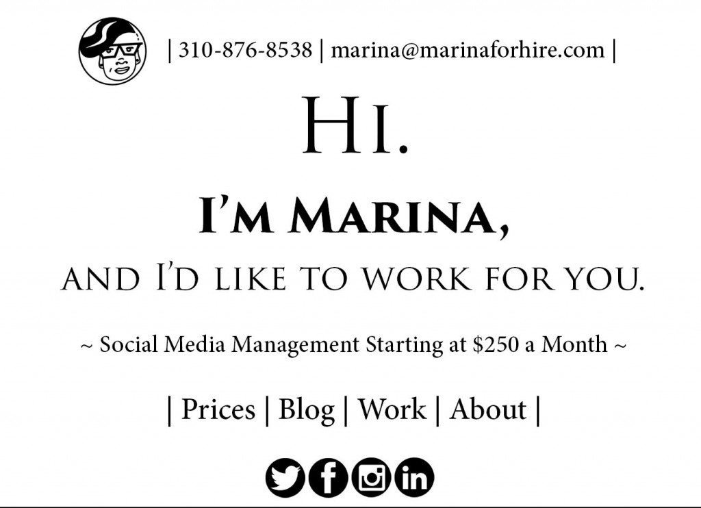 a mock-up of what a new, minimalist marinaforhire.com might look like