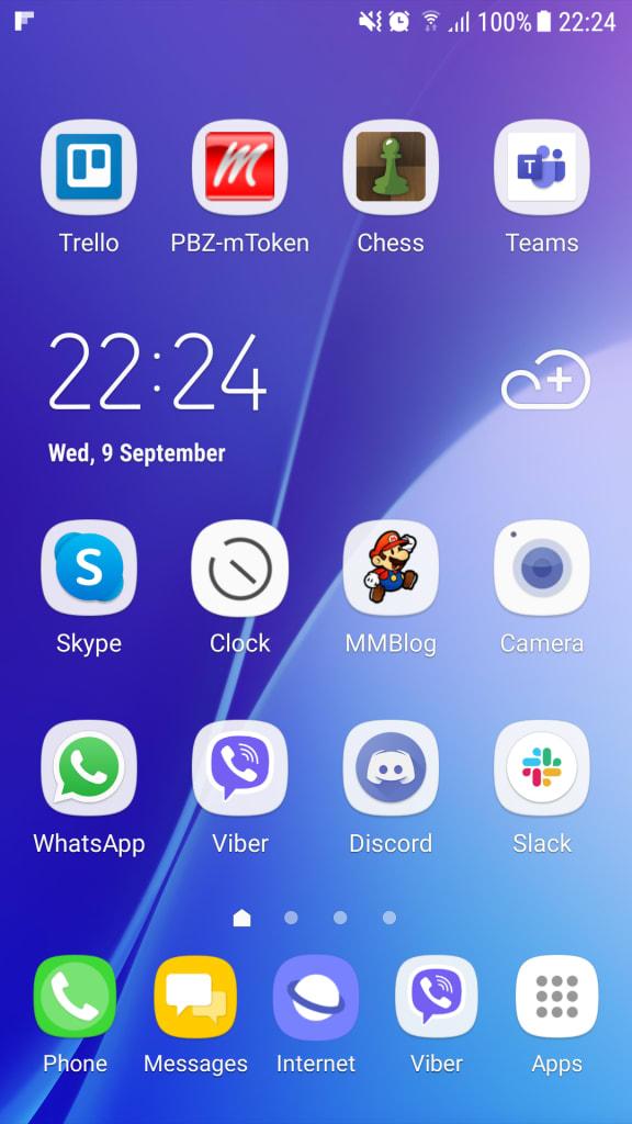 PWA on mobile desktop