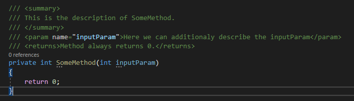 Summary comments on method