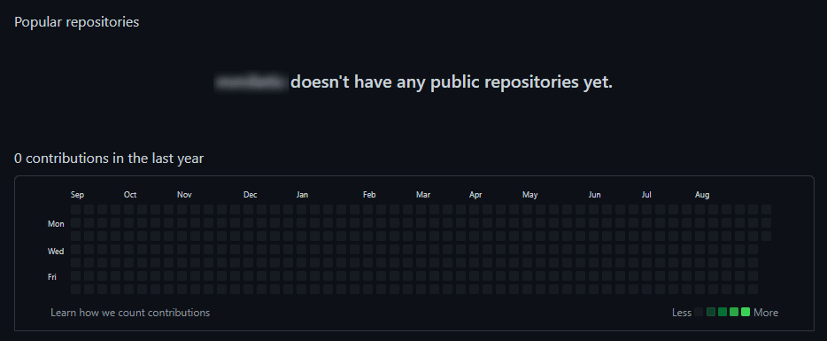 Empty GitHub Account