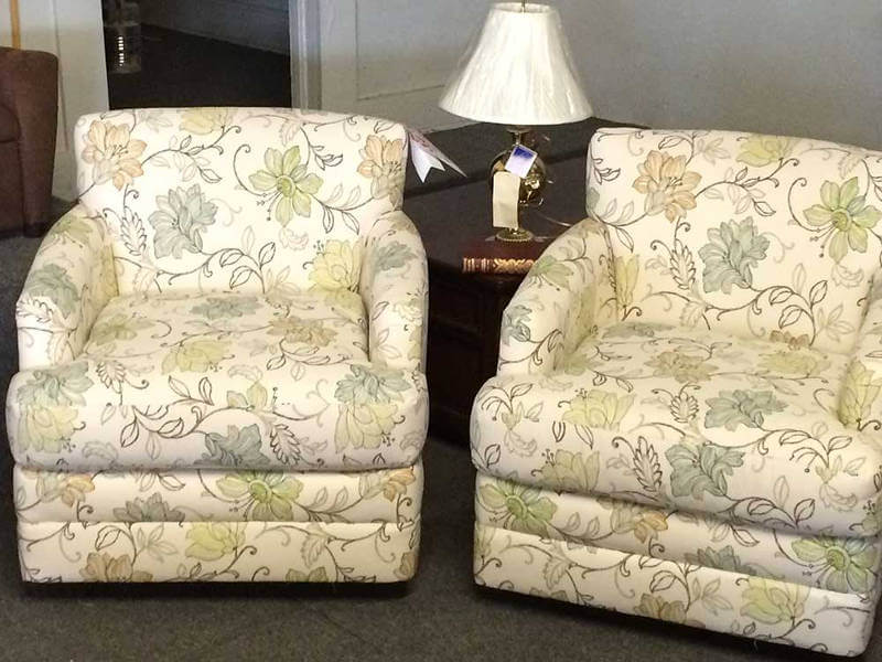 Flower Print Lounge Chairs