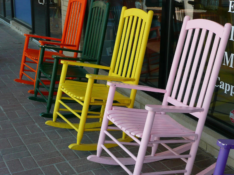 Multi-Colored Rocking Chairs
