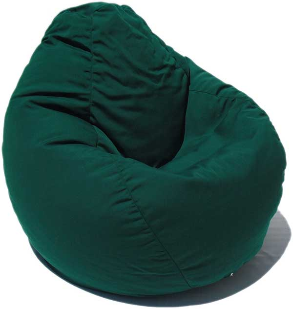 Outdura Forest Green Bean Bag Chair