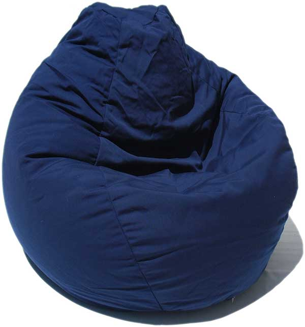 Outdura Navy Blue Bean Bag Chair