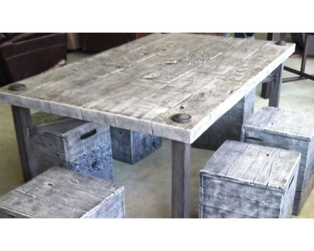 Grey Resin Table