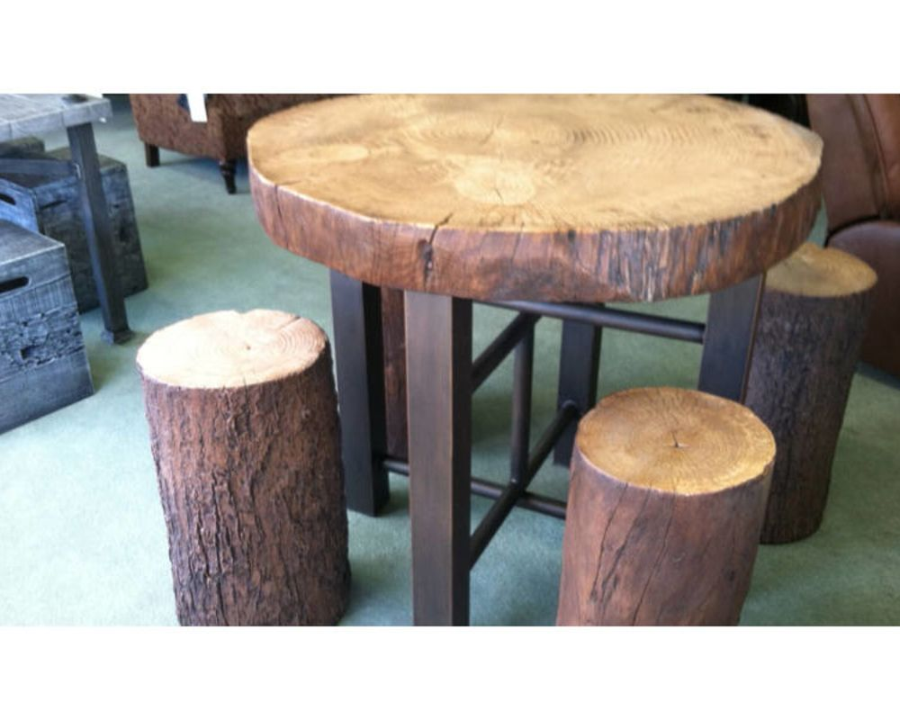 Log Resin Table
