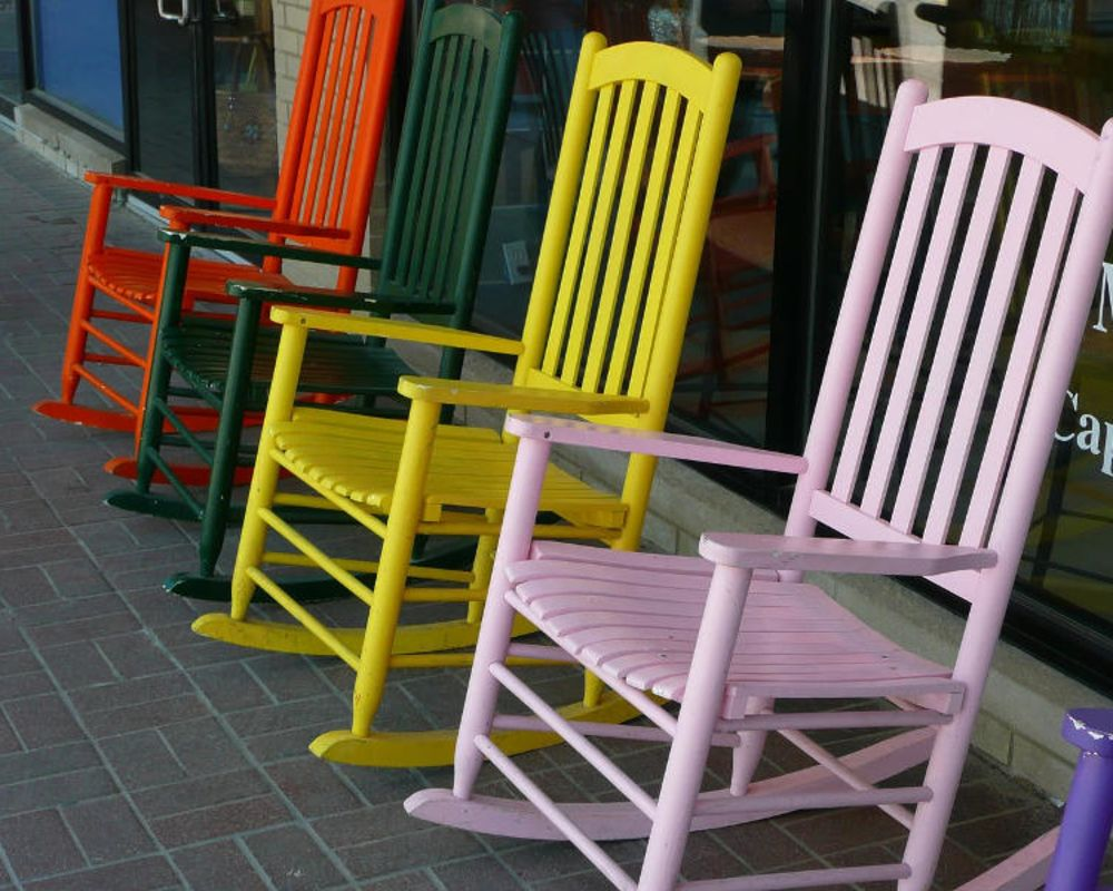 Multi Colored Rocking Chairs