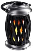 Flammelampe LED Oppladbar Krom/Svart, Ignis