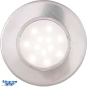 Båtsystem Downlight Corona LED Børstet stål Vanntett 2W