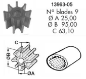 Impeller 105 Volvo D40/61/62/70/71/100/102/12/121/122