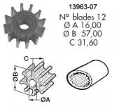 Impeller 107 VP/Bukh/Perkins/Yanmar/Johnson 1027B
