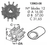 Impeller 108 VP B21/23/25/30/D21/D32/ Yanmar 3QM