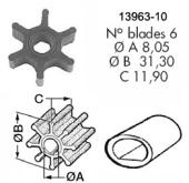Impeller 113 Yanmar 1GM/1GM10/2GM20/2QM15
