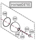 Haswing 55 Rotor-bearing holder cover