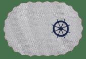 Duk Oval Ror 30x45cm Hvit
