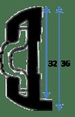 PVC Fenderlist B1582B Sort 15m