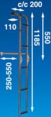 Båtsystem Badestige Akterspeil 5 Trinn BUT55F