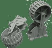 Hjulsett for gummibåt (for fastmontering)