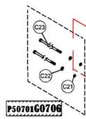 Haswing 30 Motor screws
