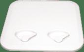 ABS-Luke 370x375mm Hvit u/Lås Kraftig