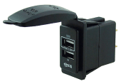 USB-uttak dobbelt for bryterpanel