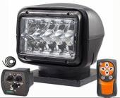 Lyskaster 220 LED 12V sort m/fjernkontroll og betjening