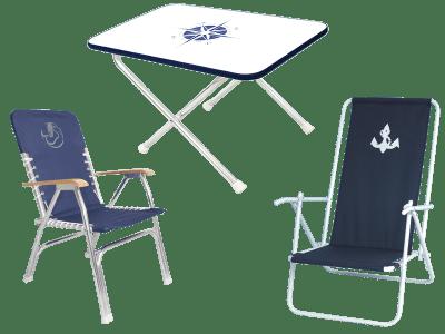 Dekkstoler og dekksbord