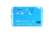 Solcelle regulator 20A 12V/24V PWM Lysindikator USB