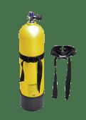 Railblaza Dykkerflaskeholder enkel sort